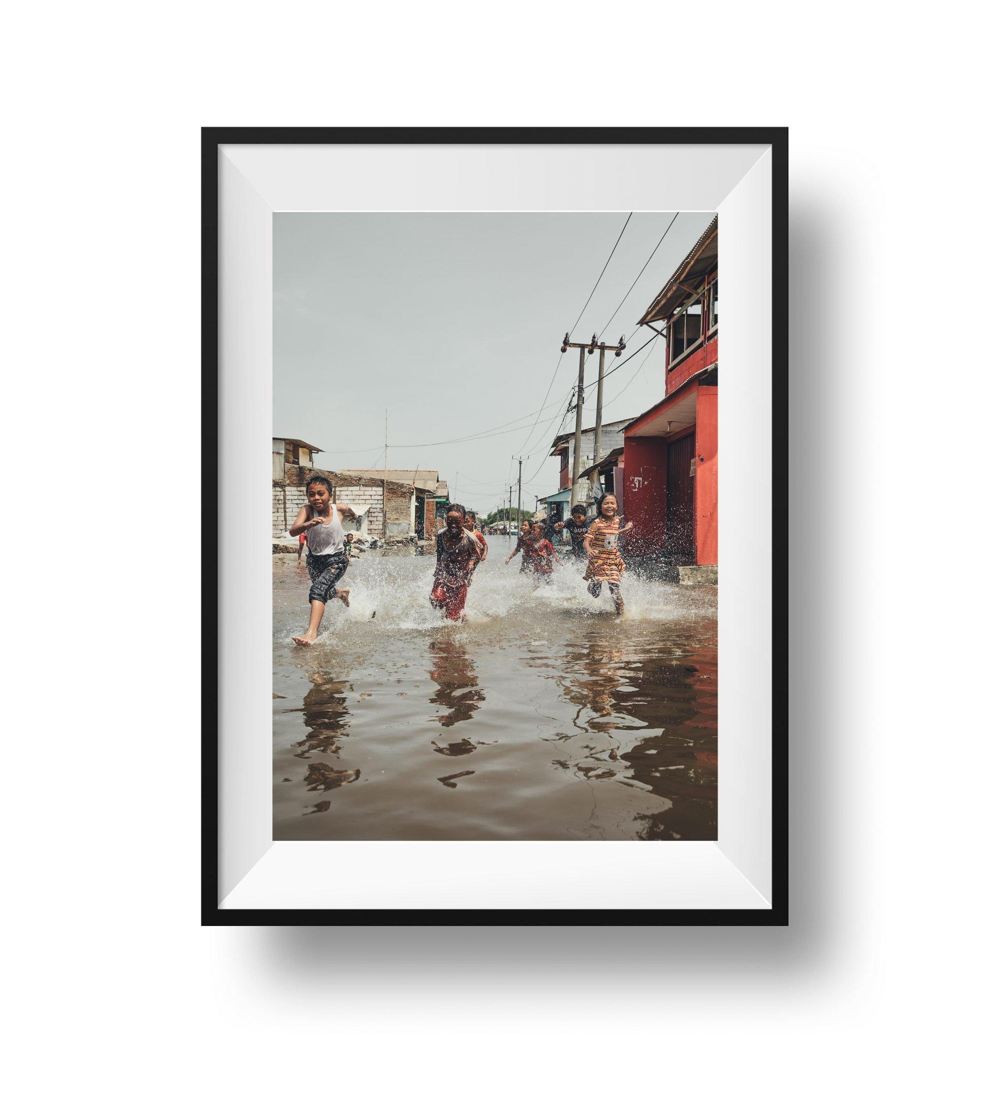 Flooded slums